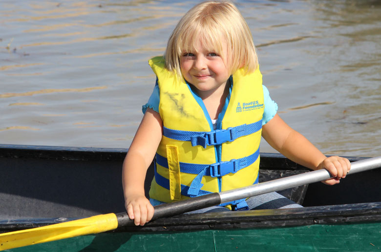Girl canoeing at Expo