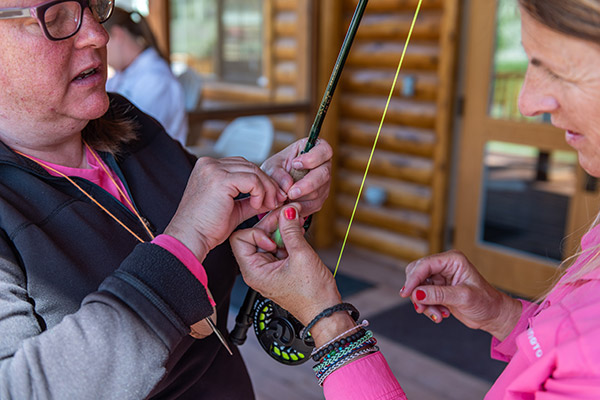 BOW Camp - Women tying a fly