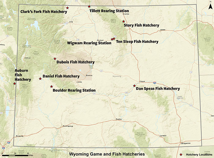 Fish Hatchery Statewide Map