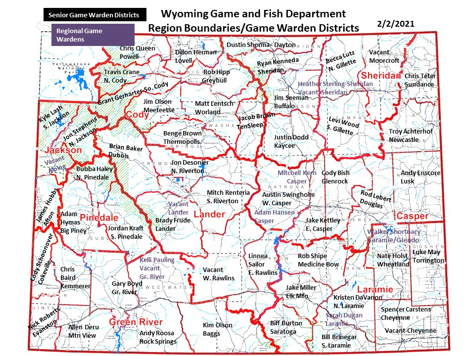 Game Warden District Map