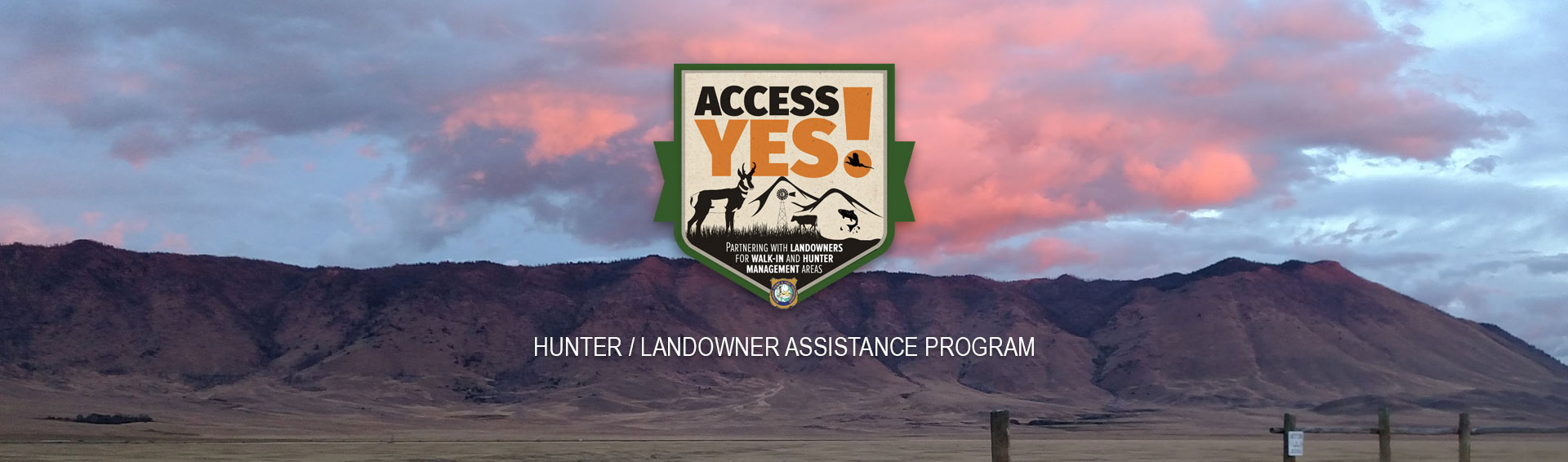 Hunter/Landowner Assistance Program banner image