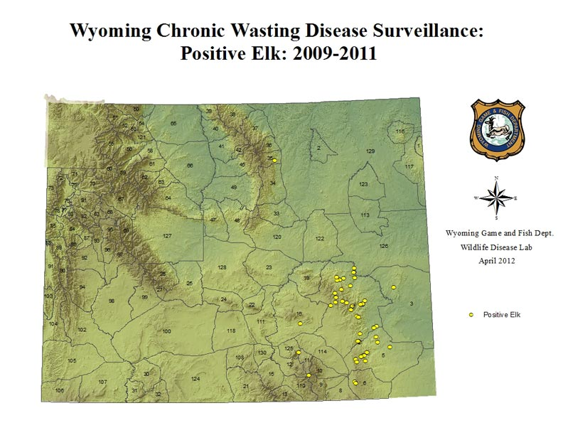 Wyoming game and fish department cwd reports for Wyoming game and fish maps