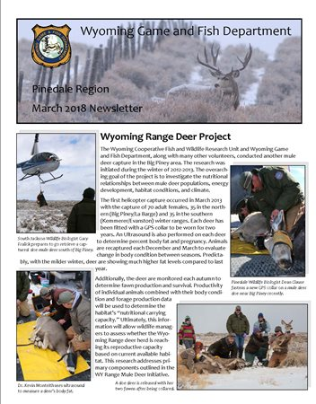 Wyoming game and fish department pinedale region for Wyoming game and fish regulations