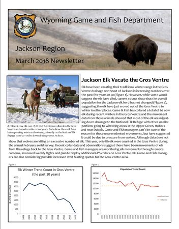Wyoming game and fish department jackson region for Game and fish wy