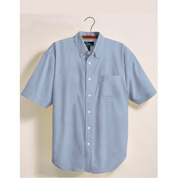 Men Short Sleeve Oxford