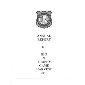 2017 Big Game Harvest Report