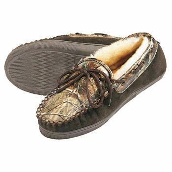 Men's Camo Leather Slippers