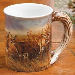 Sculpted Deer Mug
