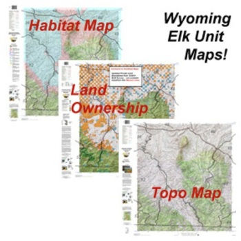 Hunting Elk Paper Maps