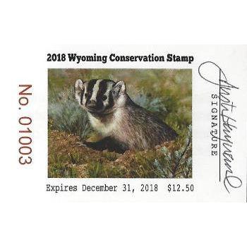 2018 Artist Signed Stamp