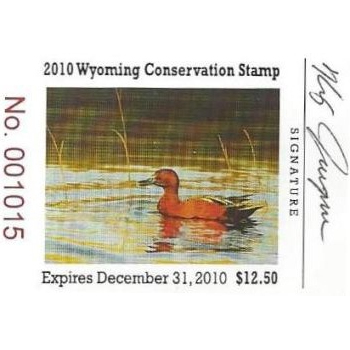 2010 Cinnamon Teal Artist Signed Stamp