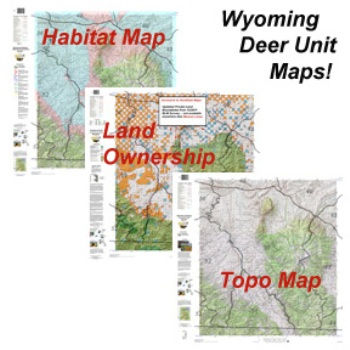 Hunting Deer Paper Maps