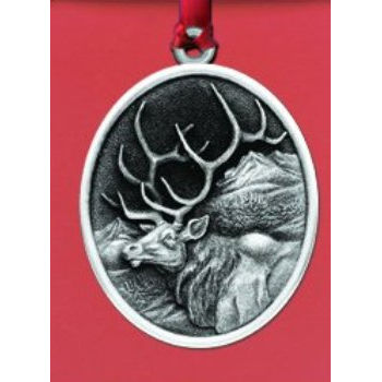 Pewter Elk Ornament