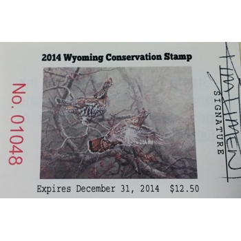 2014 Ruffed Grouse Artist Signed Stamp