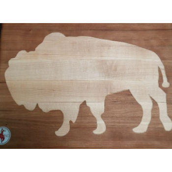 Bison Cutting Large Board