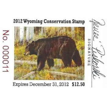2012 Black Bear Artist Signed Stamp