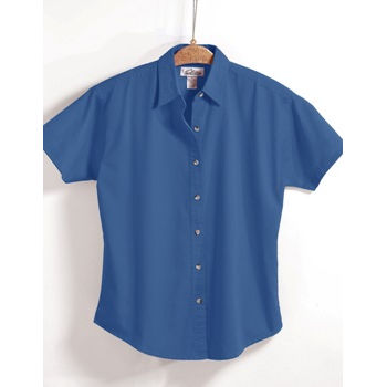 Women Short Sleeve Oxford