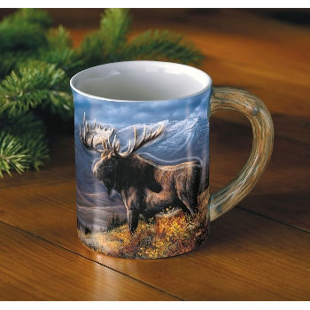 Sculpted Moose Mug