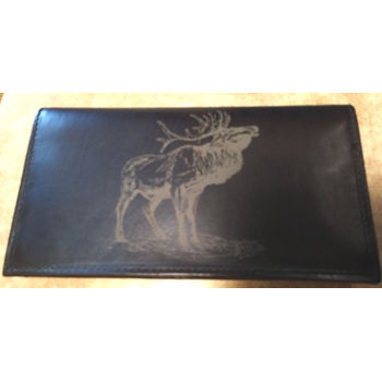 Leather Elk Checkbook