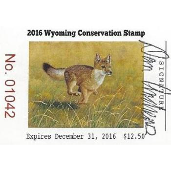 2016 Swift Fox Artist Signed Stamp