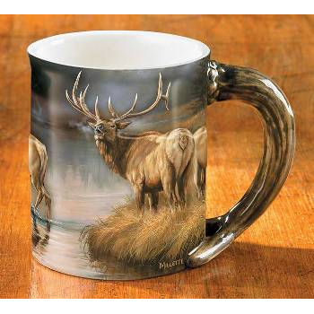 Sculpted Elk Mug