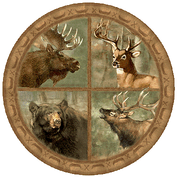 ThirstyStone Big Game Coasters